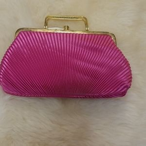 Pink Silk Chiffon handbag